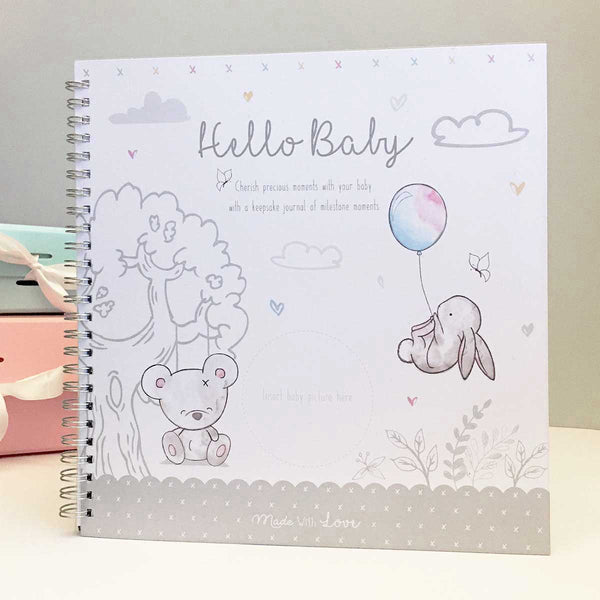 'Hello Baby' Neutral Baby Record Book