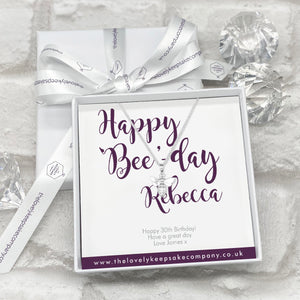 You added Sterling Silver Bee Necklace Personalised Gift Box - Various Thoughtful Messages to your cart.