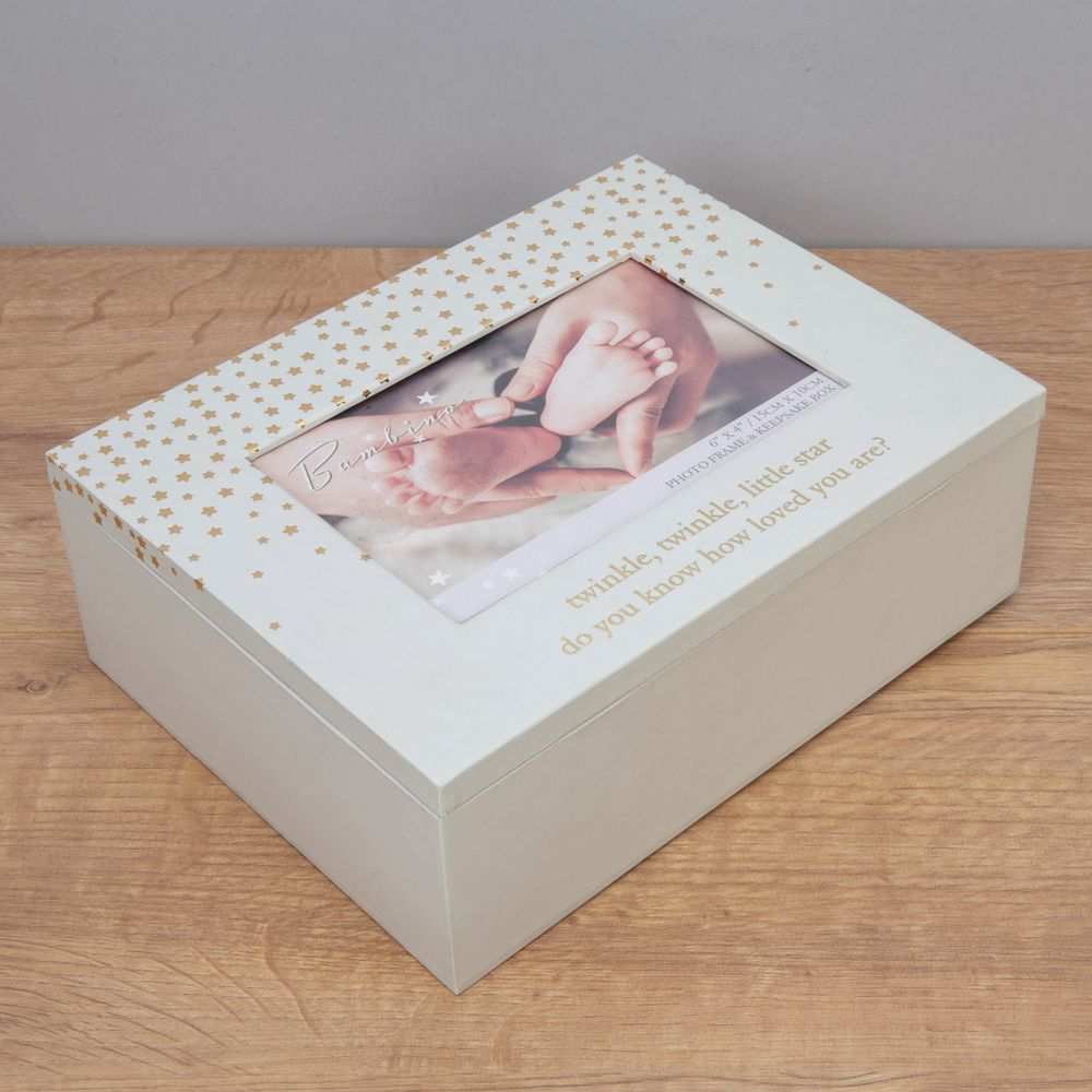 Bambino Twinkle Twinkle Little Star Keepsake Photo Box