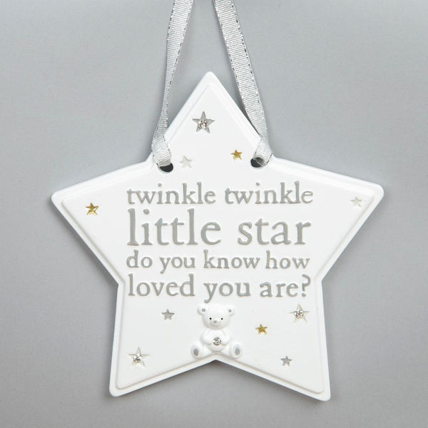 Twinkle Twinkle Hanging Star Plaque