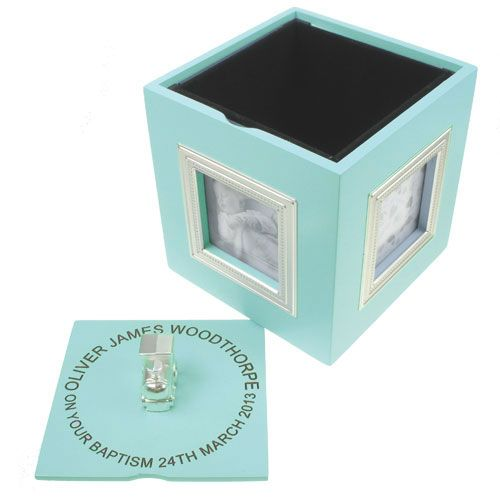 Personalised Baby Boy Musical Photo Keepsake Box