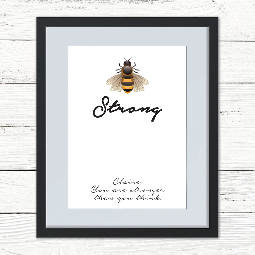 Personalised Bee Strong Print