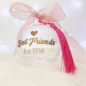 You added Personalised 'Best Friends Established' Glass Christmas Bauble to your cart.