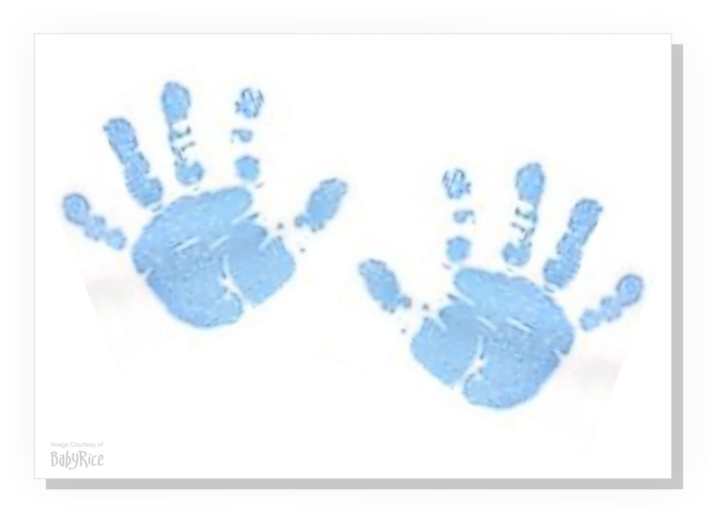 Blue hand/foot print canvas kit