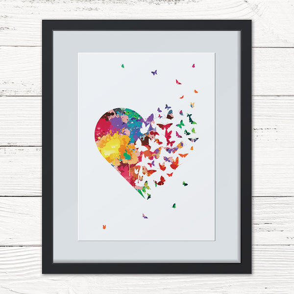 Personalised 'Butterflies Heart' Print