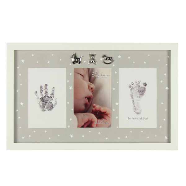 Bambino by Juliana Tiny Fingers Hand & Footprint Photo Frame with Inkpad