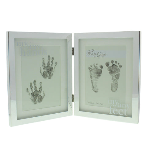 Bambino My Tiny Hands & Feet Hand/footprints Silverplated Frame