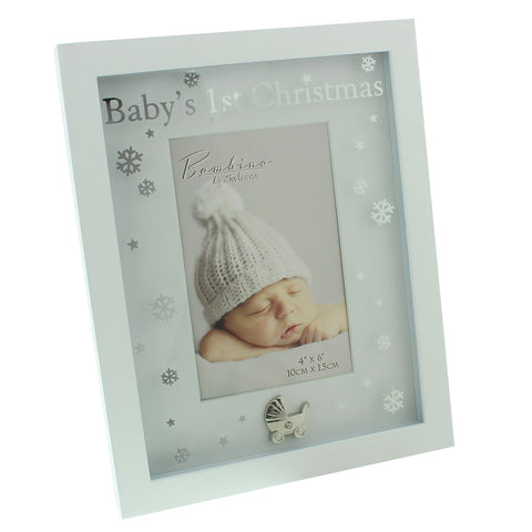 Babys 1st Christmas photo frame - Bambino by Juliana, pale blue