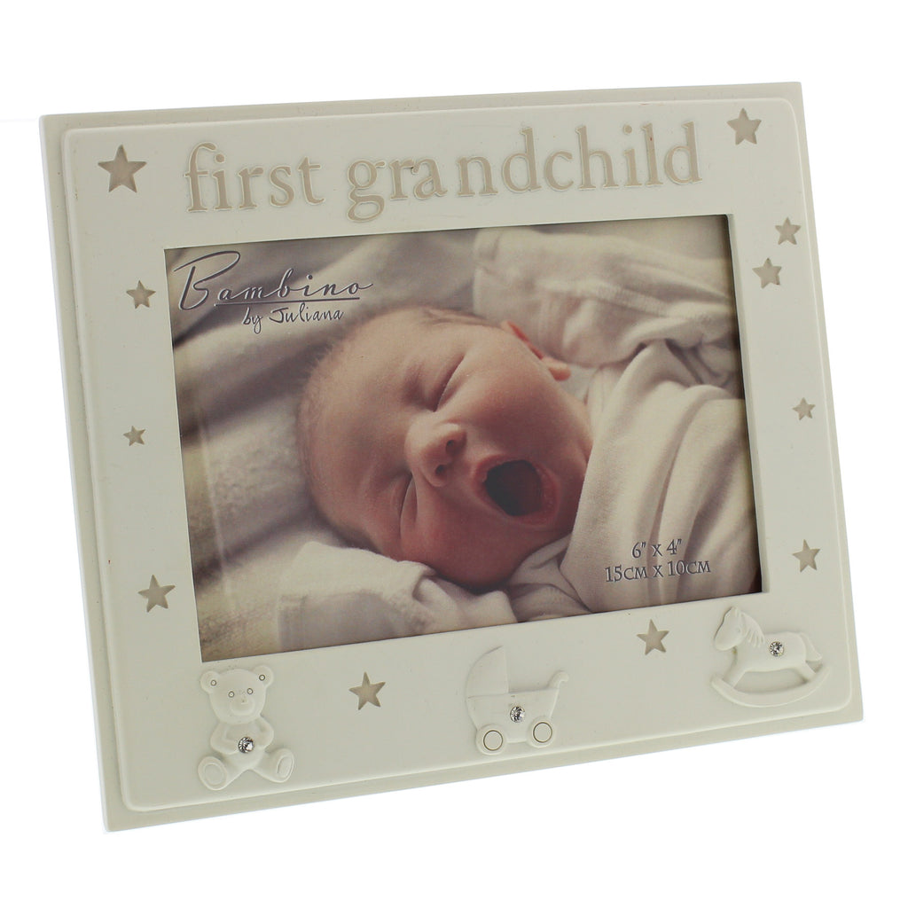 First Grandchild Photo Frame, Cream Resin