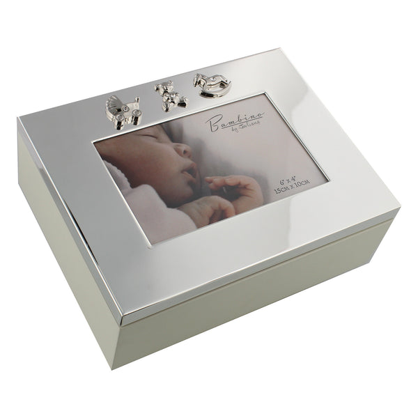 Bambino by Juliana Silverplated Baby Keepsake Box with Icons
