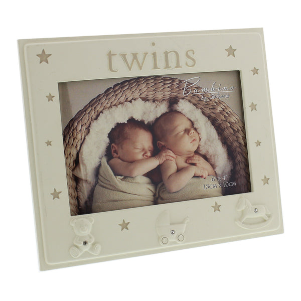 Twins Resin Photoframe Bambino by Juliana
