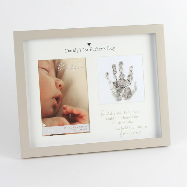 1st Father's Day Handprint & 6x4 Photo Frame by Bambino