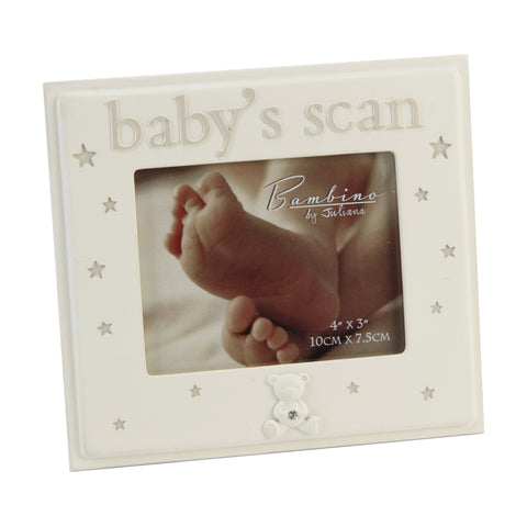 Baby Scan Photo Frame,  Cream Resin