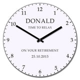 Time To Relax - Personalised Retirement Clock