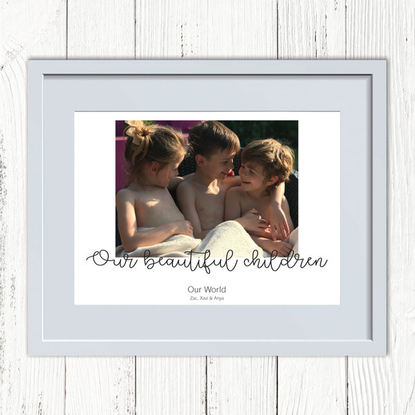 Our Children Personalised Photo Print