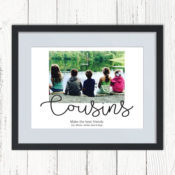 Cousins Personalised Photo Print