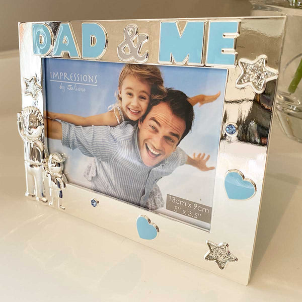 'Dad & Me' Photo Frame, Silver Plated