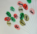 Signed Fingerprint Balloons