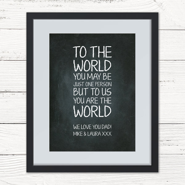 Our World Personalised Print