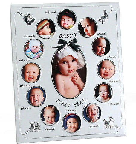 Babys 1st year photo frame