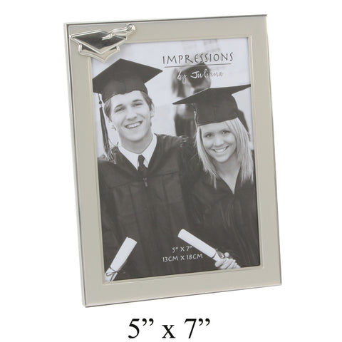 Graduation Photo Frame with Mortar Board Icon