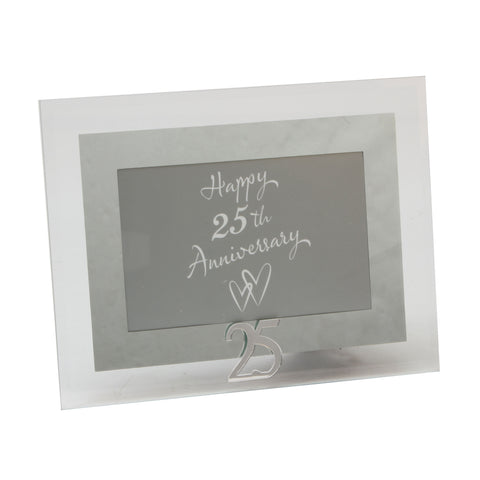 25th Anniversary Photo Frame, Glass & Mirror