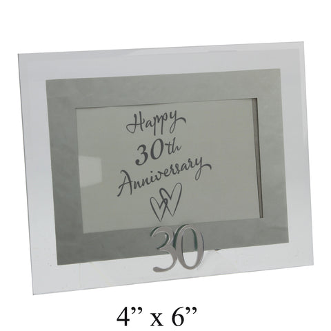 30th Anniversary Photo Frame, Glass & Mirror