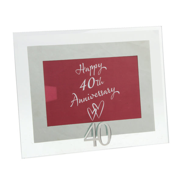 Ruby Wedding, 40th Anniversary Photo Frame
