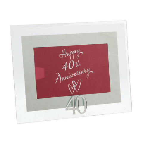40th Anniversary Photo Frame, Glass & Mirror