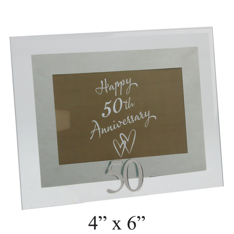 50th Anniversary Photo Frame, Glass & Mirror