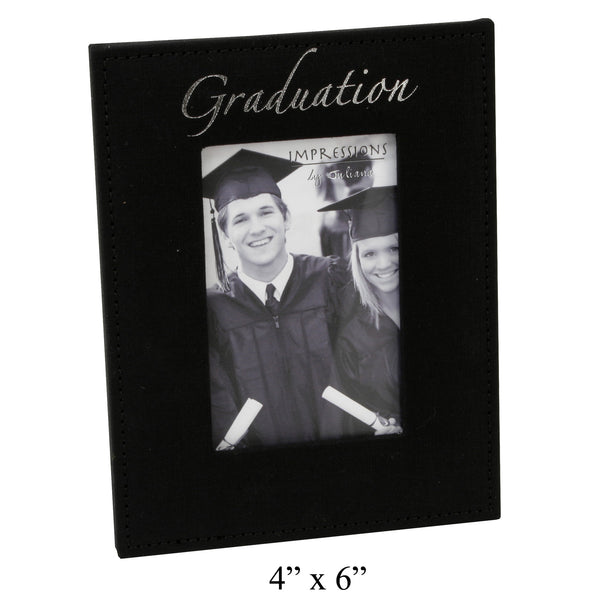 Graduation Photo Frame - Black Fabric