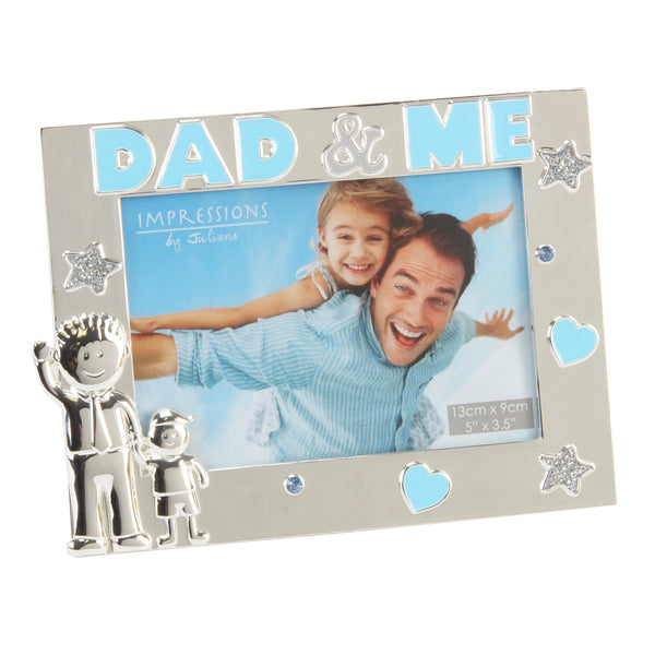 Dad & Me Photo Frame - Silver Plated Juliana