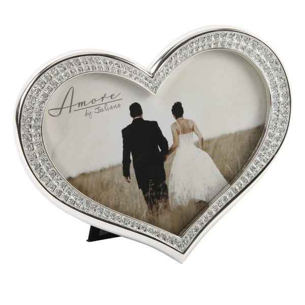 Amore Silverplated Heart Shaped Frame