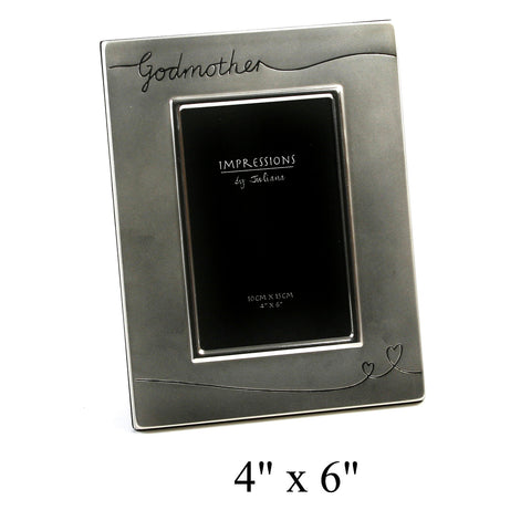 Godmother Photo Frame - Silver Plate - Juliana