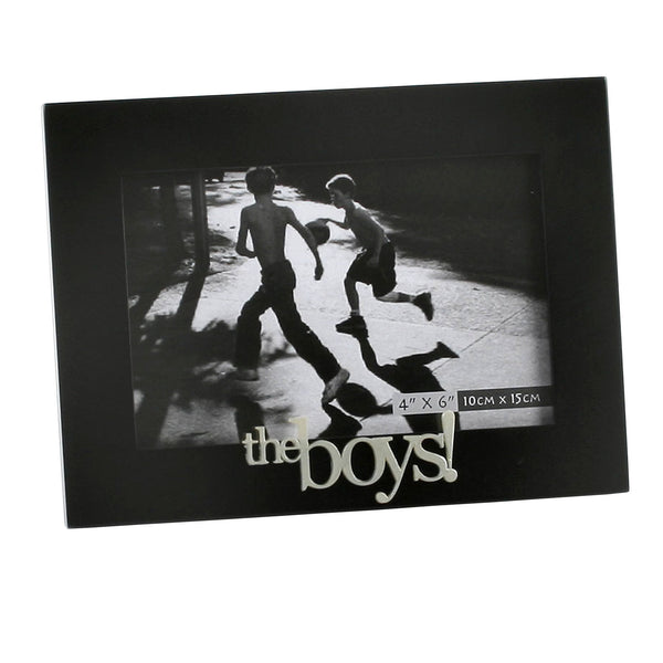 "The Boys 4""x6"" black frame"