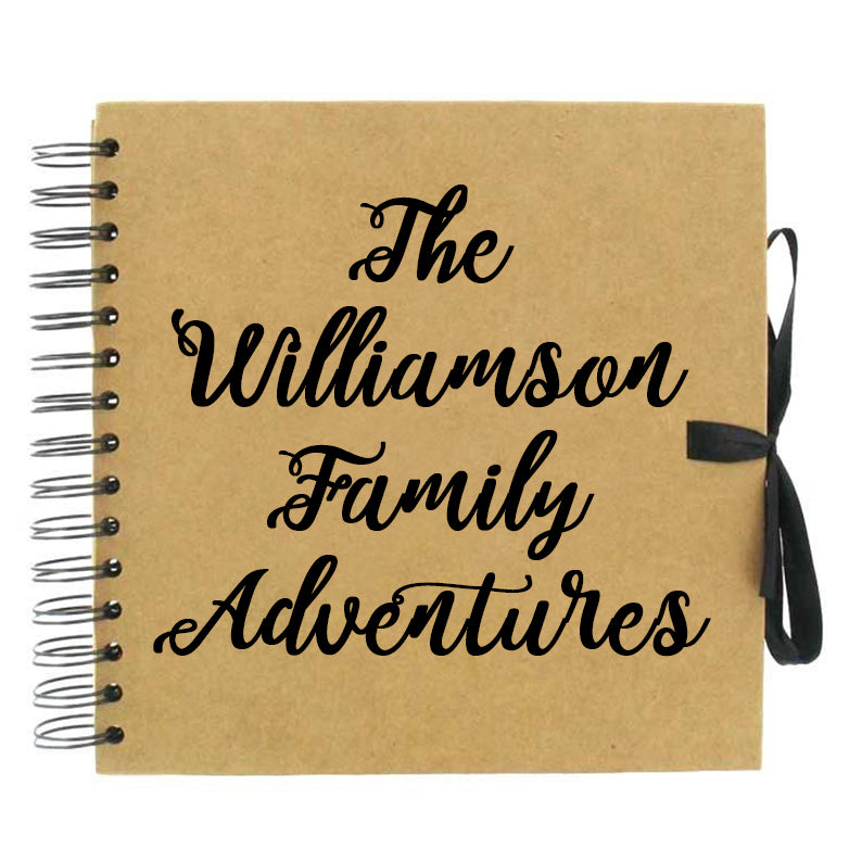 Family Adventures Scrapbook (Kraft, Black, White)