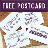 FREE Lockdown 2021 Homeschooling Postcard