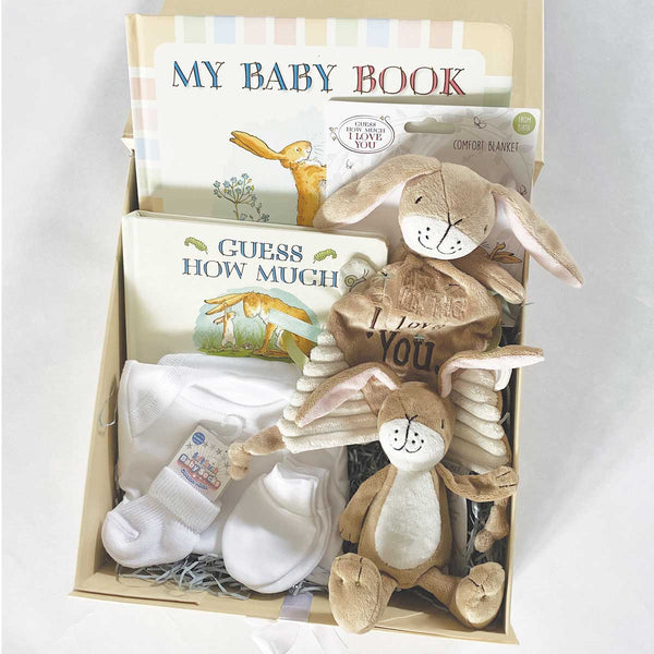 Personalised Guess How Much I Love You™ Newborn Baby Gift Hamper - Deluxe