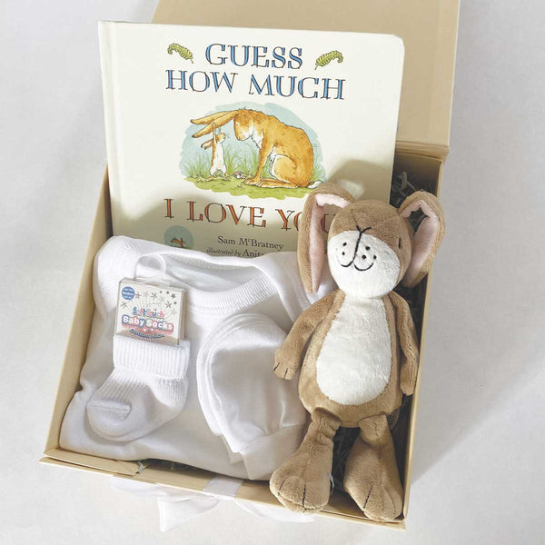 Personalised Guess How Much I Love You™ Newborn Baby Gift Hamper
