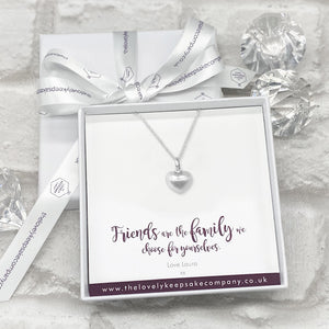 You added Sterling Silver Heart Necklace Personalised Gift Box - Various Thoughtful Messages to your cart.