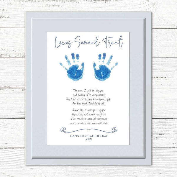 Your Baby's Hand Print & Poem Personalised Framed Print