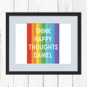 You added Personalised Think Happy Thoughts Rainbow Print to your cart.