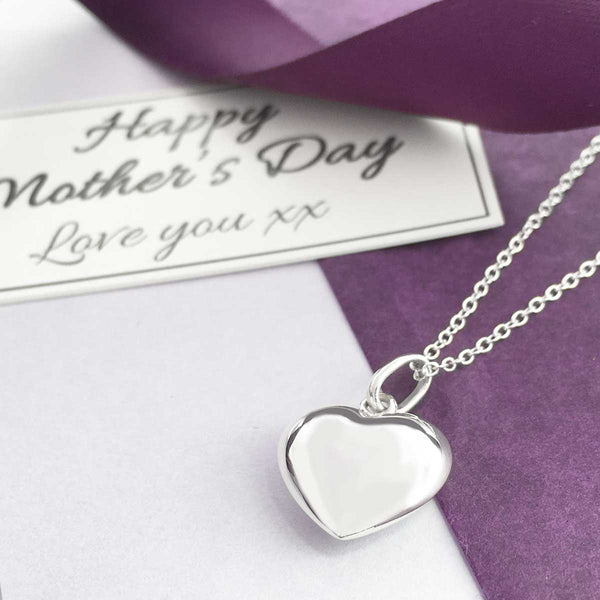 Sterling Silver Heart Necklace - Happy Mother's Day