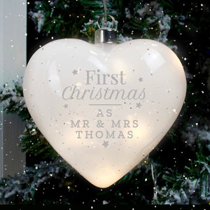 You added Personalised 'First Christmas' LED Hanging Glass Heart to your cart.