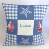 Patchwork New Baby Celebration Cushion