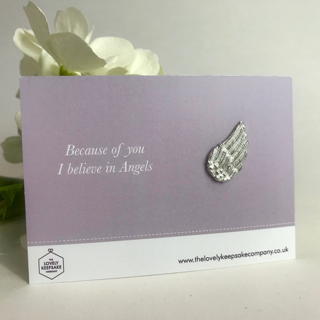 'Because of you I believe in Angels' Angel Wing Token