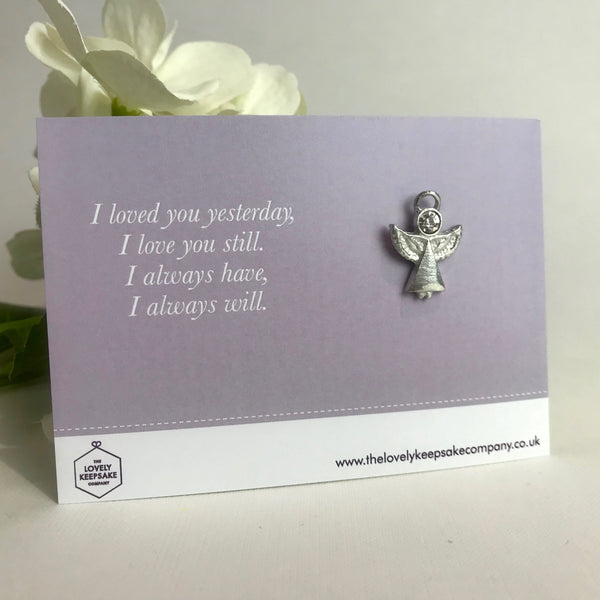 'I Loved You Yesterday' Angel Pin