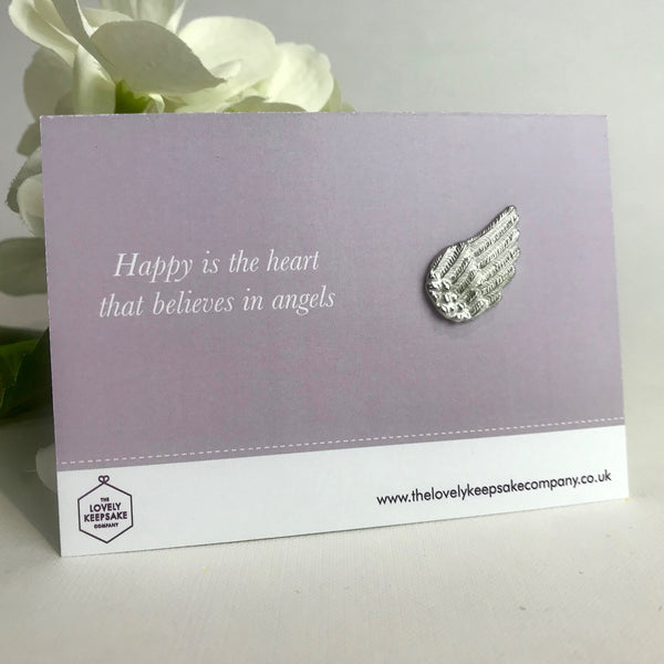 'Happy is the heart that believes in Angels' Angel Wing Token