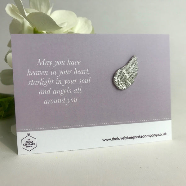 'May you have Heaven in your Heart' Angel Wing Token