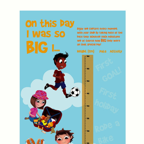 **BIZZIEBABY.CO.UK AWARD WINNING!!!!!!**       Height & Milestones Chart